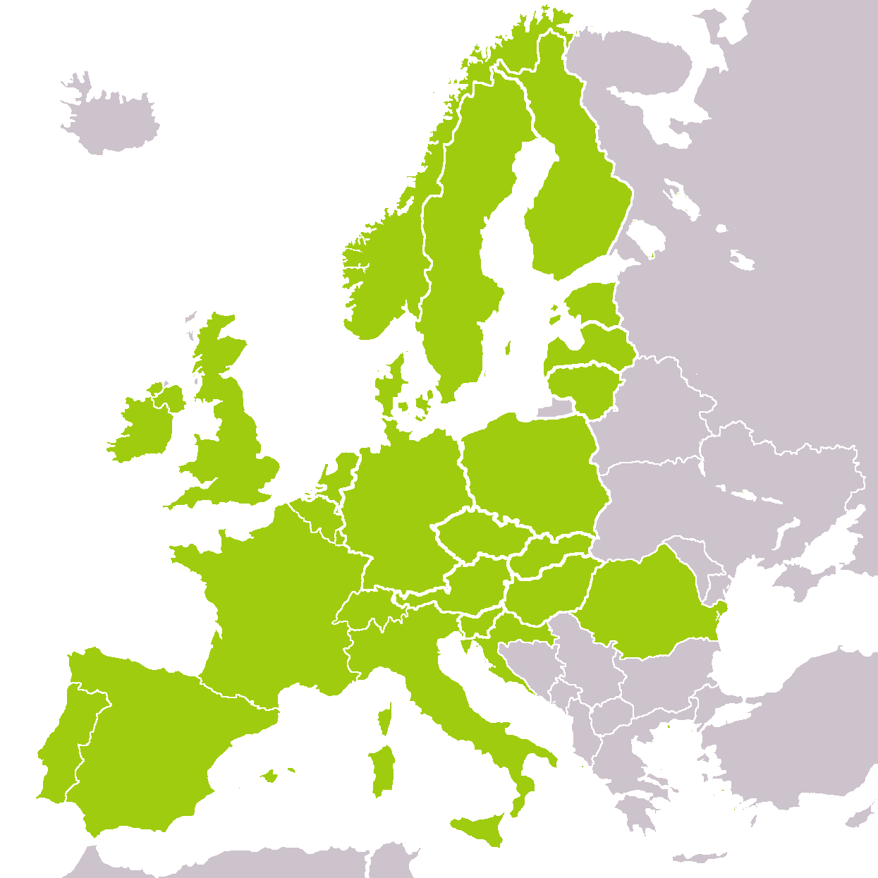Europe map - HIRVI Transport Kft